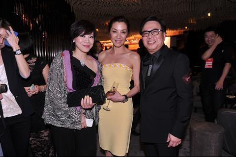 Mr and Mrs Wilfred Wong with Michelle Yeoh